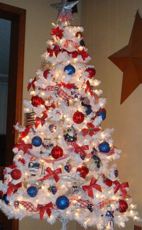americana christmas tree red white and blue holidays