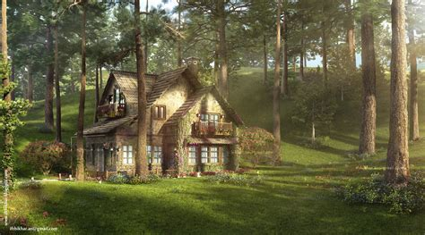 the firefly cottage 3dsmax vray study cottage
