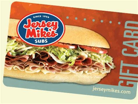 jersey mike s gift card restaurant marketing pinterest - Jersey Mikes Gift Card