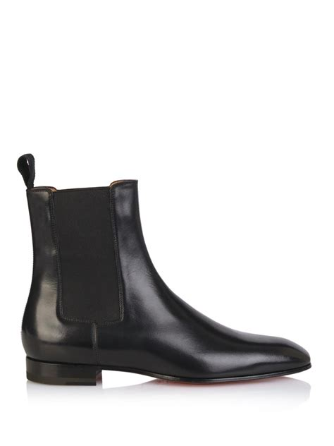 Christian Louboutin Boots 1 Christian Louboutin Broadie Leather Chelsea Boots In Black