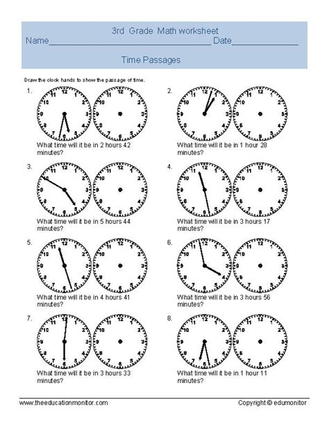 printable worksheets telling time math worksheets telling time kindergarten time