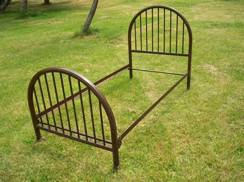 Metal And Footboard by Quot Simmons Quot Size Metal Footboard Set W Frame Ebay