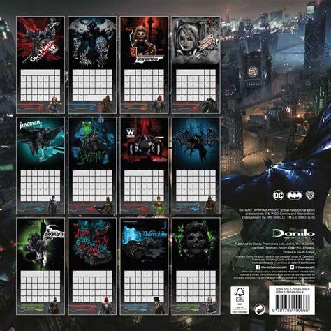 Calendar Batman Batman Arkham Calendar 2017 Version