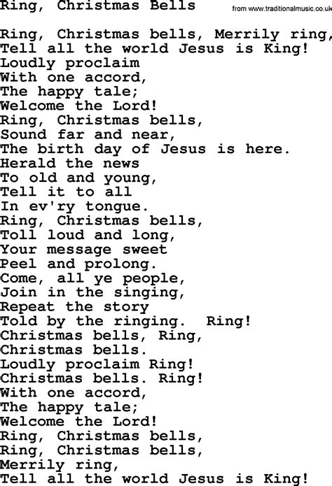 catholic hymns song ring christmas bells lyrics and pdf