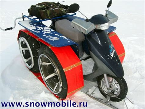 doodlebug top speed russian modified scooter does well on snow news top speed
