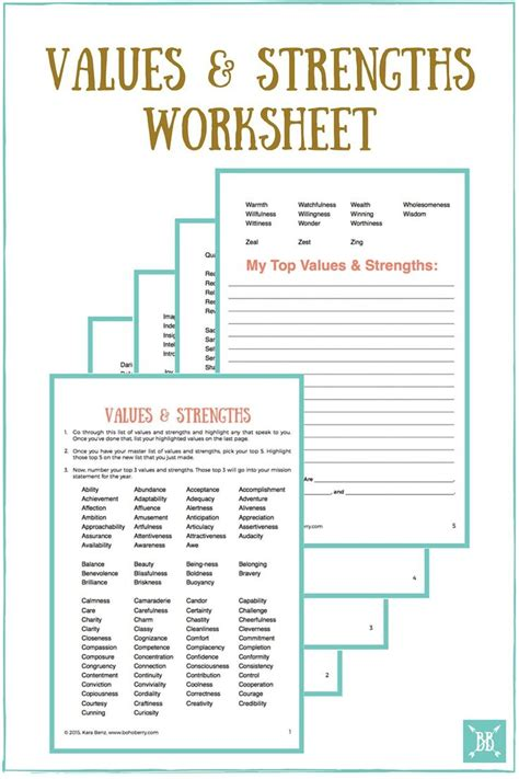 values and goals worksheet 17 best images about goal setting on pinterest life