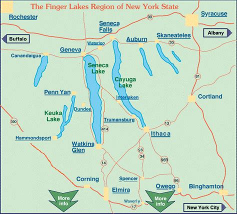 finger lakes ny map 29 awesome map new york state finger lakes region