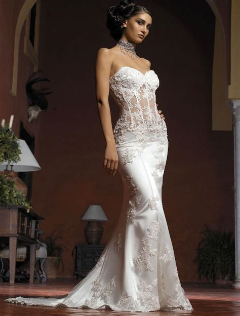 Wedding Dresses Corset by Gorgeous Collection Of Sheer Lace Corset Wedding Dresses