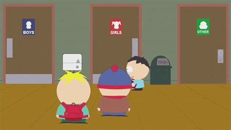 south park bathroom south park transginger language identity and culture