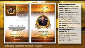 funeral program software funeral program endearing template funeralprinter