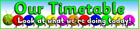 primary visual timetable classroom display resources
