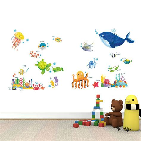Wandtattoo Kinderzimmer Meer by Wandsticker Meerestiere Unterwasserwelt Fische Wandsticker