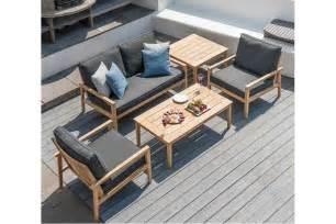 canap 233 lounge pour salon de jardin en bois avec coussin