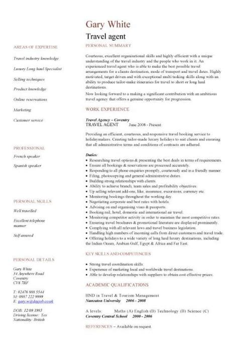 Travel Sle Resume by Sales Cv Template Sales Cv Account Manager Sales Rep Cv Sles Marketing