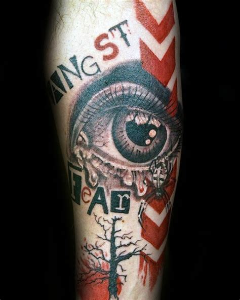 tattoo fonts photoshop photoshop style colored arm of human eye with