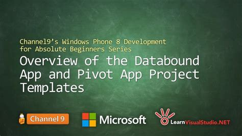 windows phone 10 development tutorial for beginners part 10 overview of the databound app and pivot app