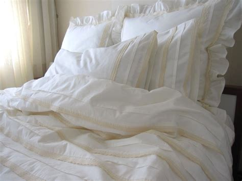eyelet comforter plain all ivory cream full queen duvet cover lace eyelet