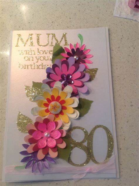 Handmade 80th Birthday Cards - 17 best images about numbers cards on