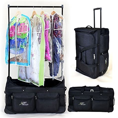 Duffle Bags With Garment Rack by Closet Trolley Bag With Garment Rack Black