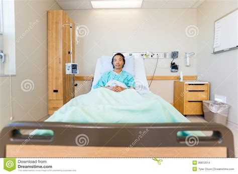Reclining On A Bed by Portrait Of Patient Reclining On Hospital Bed Stock Images Image 36812014