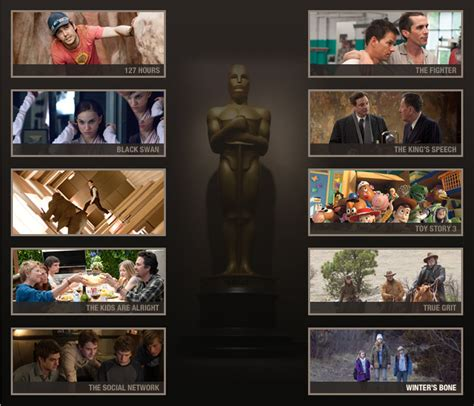 best picture nominees 2011 academy awards 2011 best picture sheet npr