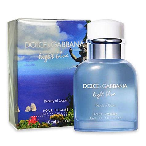 dolce gabbana beauty light blue eau de toilette spray dolce gabbana light blue beauty of capri pour homme eau de