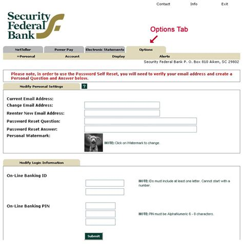 reset my online banking password security federal bank online banking password reset