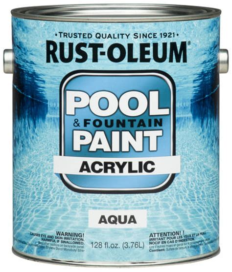 rust oleum 174 high performance aqua acrylic pool paint 1 gal at menards 174