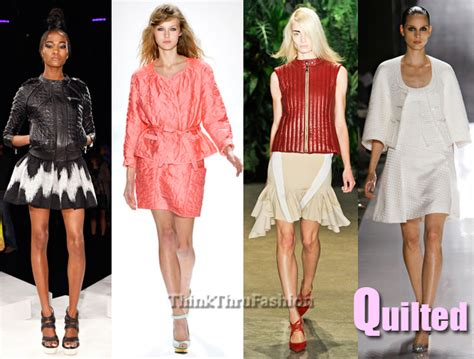 Quilting In Fashion by 2012 New York Fashion Week Trends Quilted