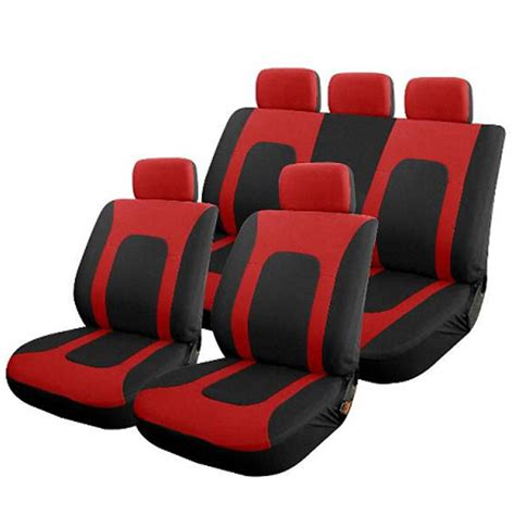 universal bench seat covers higa universal 5 headrests solid bench cloth seat covers