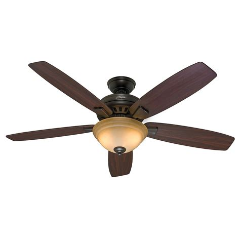 54 Quot Hunter Premier Bronze Ceiling Fan Toffee Glass Light Ceiling Fan With Light Kit And Remote