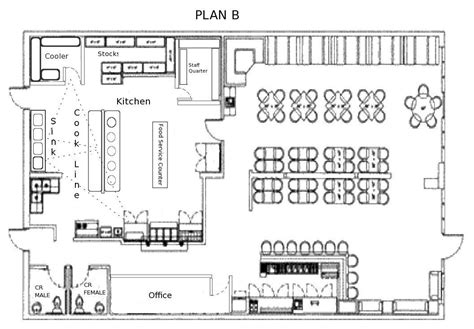Hotel Kitchen Layout Drawings by Small Restaurant Square Floor Plans Every Restaurant