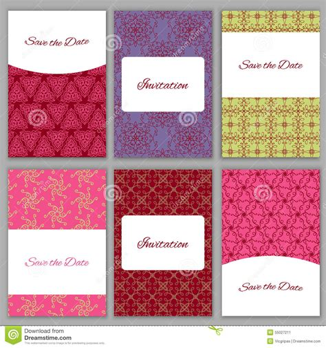 card template sets baby shower invitations set vector vintage
