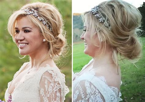 Kelly clarkson s wedding hairstyle was created by robert ramos she