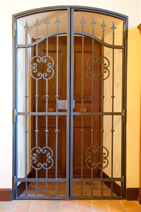 Iron Gate Front Door Surprising Iron Gates For Front Door For Iron Fence