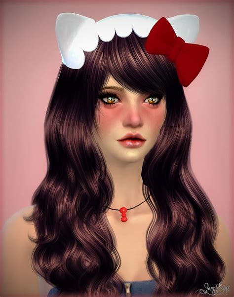 big bow hair accessory at jenni sims 187 sims 4 updates jennisims downloads sims 4 new mesh accessory hello