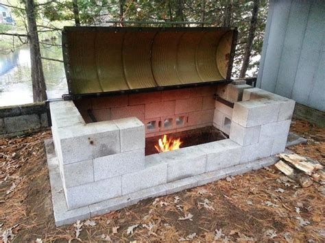 how to make a large rotisserie pit bbq home design