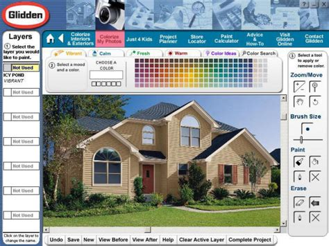 digital room planner glidden exterior house paint colors