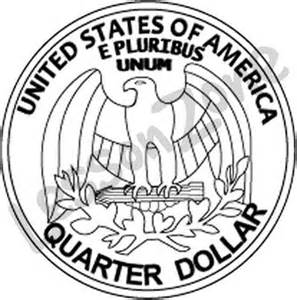 quarter black and white clipart clipart suggest