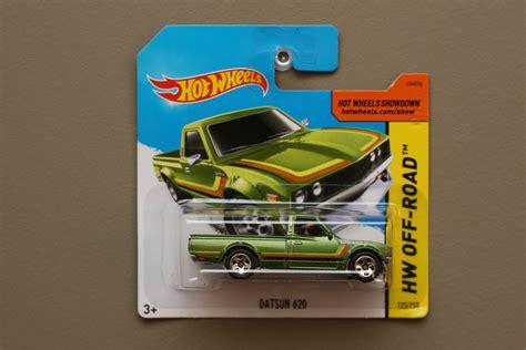 Hotwheels Datsun Green wheels 2015 hw road datsun 620 green
