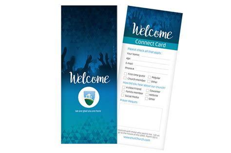 Youth Connection Card Template by Classic Connect Card Blue Digital316 Net