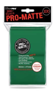 ultra pro pro matte review ultra pro ultra pro pro matte sleeves 100 green