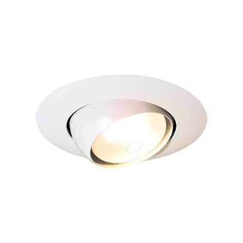 6 recessed lighting eyeball trim thomas lighting 6 in matte white eyeball recessed trim
