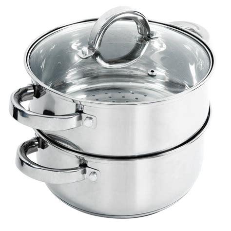 oster hali  qt stainless steel steamer set  lid