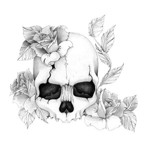 skull n rose tattoo skull n roses by skrzynia on deviantart
