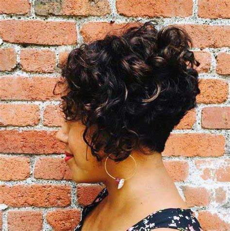 photo of a stack bob on black women hair stylish curly hairstyles for short haired ladies the