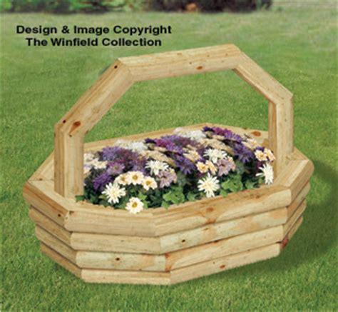 Landscape Timber Basket Planter Woodworking Plans Landscape Timber Oval Basket