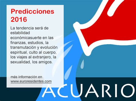 el horoscopo 2016 horscopos in hor 243 scopo acuario 2016