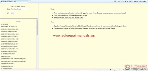manual repair autos 2012 mitsubishi outlander user handbook mitsubishi outlander 2012 workshop manual auto repair manual forum heavy equipment forums