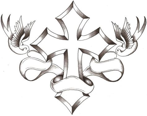 dove cross tattoo 25 brilliant cross tattoos for